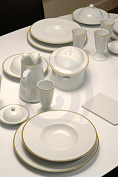 Served Table Royalty Free Stock Photo - Image: 14446475