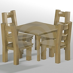 Table With Chairs Stock Image - Image: 14448401