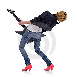 Girl With A Guitar Stock Photography - Image: 14448532