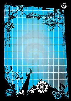Blue And Black  Decoration Royalty Free Stock Photo - Image: 14452425