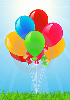 Colored Balloons In The Sky Stock Image - Image: 14453201