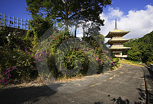 Japanese Garden & Cemetery, Oahu, Hawaiian Islands Royalty Free Stock Photography - Image: 14458087