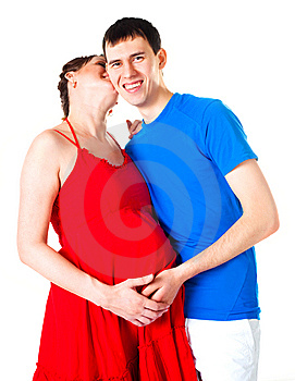 Pregnant Woman And Her Husband Royalty Free Stock Images - Image: 14458379