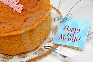 Celebration With Card And Cake Stock Photos - Image: 14458423