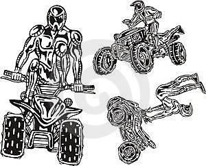 ATV Riders 8. Stock Photo - Image: 14459640