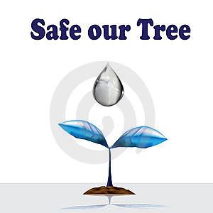 3D Safe Our Tree Royalty Free Stock Photography - Image: 14460597