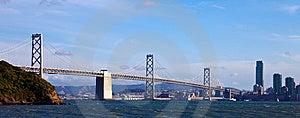 Bay Bridge Panorama Royalty Free Stock Image - Image: 14460616