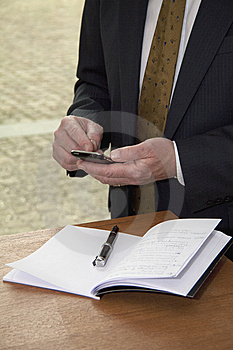 Business Man With Cell Phone Royalty Free Stock Photography - Image: 14462957