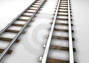 Rail Tracks Stock Photo - Image: 14464950
