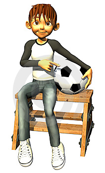 Kid Boy Teen Human Is Also A Footballer Stock Image - Image: 14465591