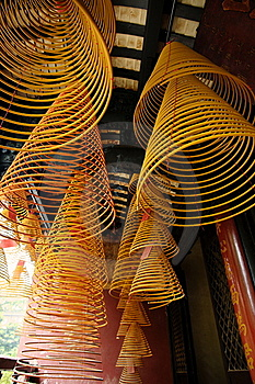 Incense Spirals, Kun Iam Temple, Macau. Royalty Free Stock Photos - Image: 14468548