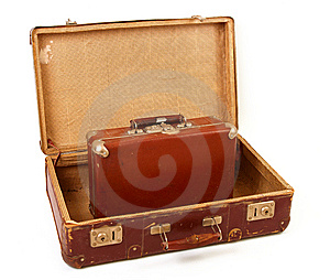 Two Old Suitcases Royalty Free Stock Image - Image: 14468626