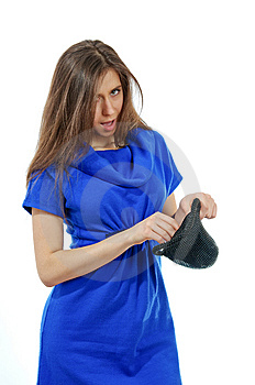 Beautiful Girl Wearing Blue Dress Stock Photos - Image: 14472793