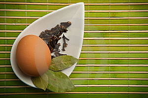 Egg And Laurel Leaves Stock Image - Image: 14473461