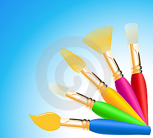 Colored Paintbrushes Stock Photos - Image: 14473933