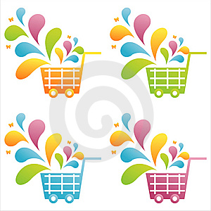 Set Of 4 Baskets Royalty Free Stock Photography - Image: 14474387