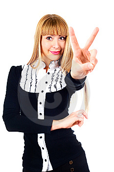 Businesswoman Showing Stock Photos - Image: 14474423