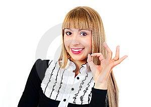 Femme D'affaires Affichant NORMALEMENT Photographie stock libre de droits - Image: 14474447