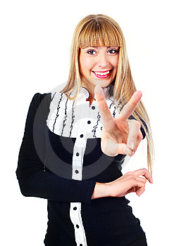 Businesswoman Showing Stock Photos - Image: 14474563