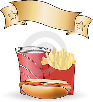 Hot Dog Meal Poster Stock Photos - Image: 14478513