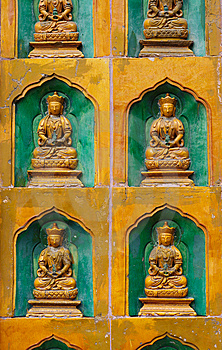 Relief Sculpture Of Buddhas Royalty Free Stock Photo - Image: 14478975