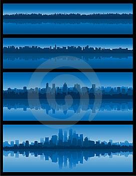 Blue Cityscape Background Stock Photography - Image: 14479022
