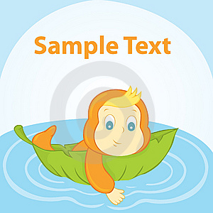Baby On A Lily Pad Stock Image - Image: 14480701