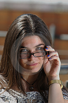 Looking Over The Glasses Stock Photo - Image: 14480910