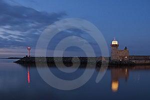 Lighthouse At Night Stock Image - Image: 14481751