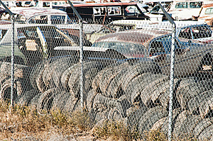 Auto Salvage Yard Stock Image - Image: 14481911