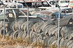 Auto Salvage Yard Stock Image - Image: 14481911