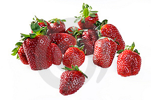 Fresh Ripe Perfect Strawberries Royalty Free Stock Images - Image: 14482449