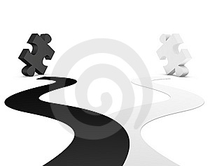 Black And White  Puzzle Stock Photos - Image: 14483243