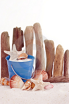 Beach Concept -- Pail Stock Photography - Image: 14483322