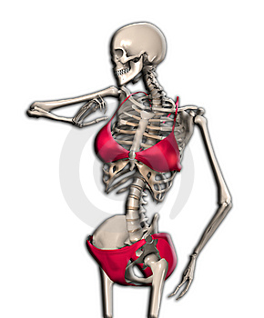 Skeleton In A Bikini Stock Photos - Image: 14483703