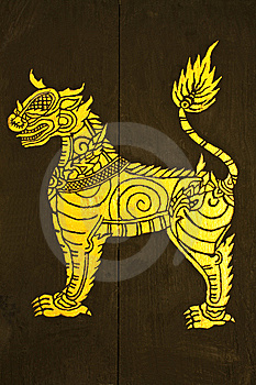 Thai Tradional Painting Stock Photo - Image: 14485930