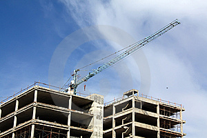 Buildings Are Built Royalty Free Stock Images - Image: 14486179