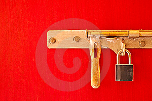 Lock On The Door Stock Images - Image: 14486234
