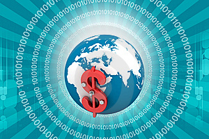 3d Globe Dollar Sign Royalty Free Stock Photo - Image: 14486285