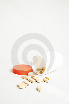 Pill Container With Supplement Pills Stock Photo - Image: 14486580