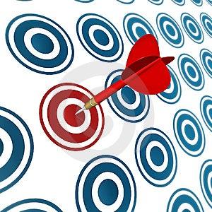 Target Hit Royalty Free Stock Photo - Image: 14486595