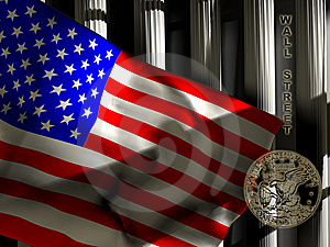 Flag And Columns Stock Images - Image: 14487244