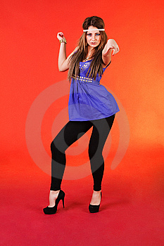 Beautiful Young Girl In Blue Dress Royalty Free Stock Photos - Image: 14488198