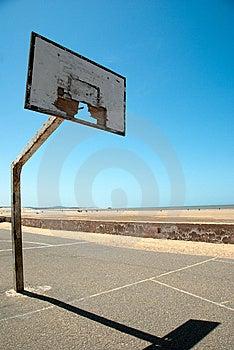 Dreamy Days On The Slam Dunked Beach Court Stock Photos - Image: 14488383