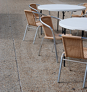 Closed Cafe Tables And Chairs Stock Images - Image: 14489014