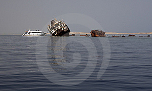 Sunken Russian Ship. Stock Photos - Image: 14490173