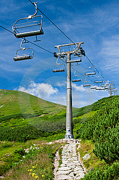 Ski Lift In Summer Royalty Free Stock Photo - Image: 14491855