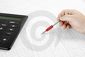 Calculating Financial Data Royalty Free Stock Photo - Image: 14492435