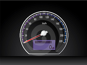 Analog Speed Display Dashboard Stock Images - Image: 14493654