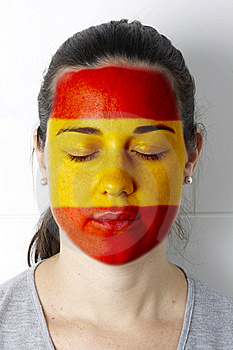 Spanish Soccer Fan - Football Fan Stock Photography - Image: 14493702